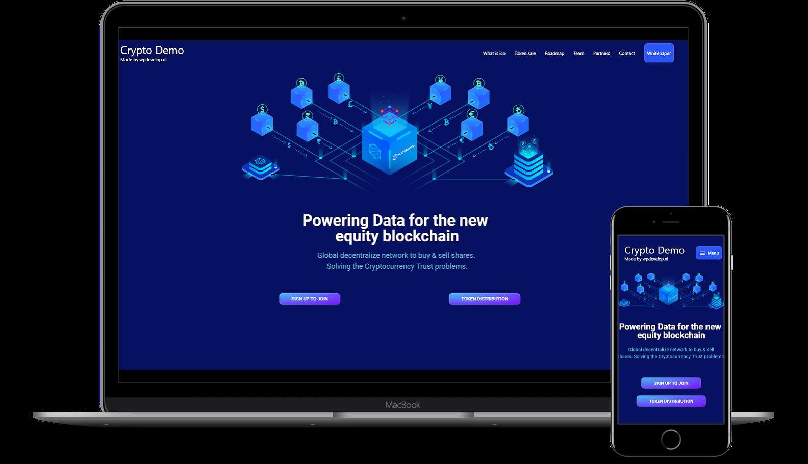 Crypto demo website