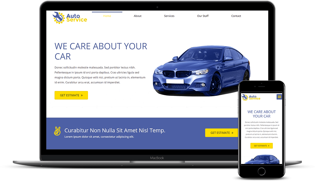 Auto Service demo website