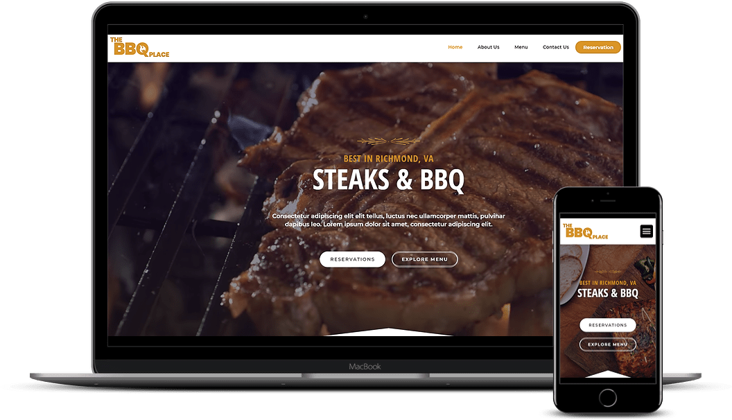 Restaurant demo website