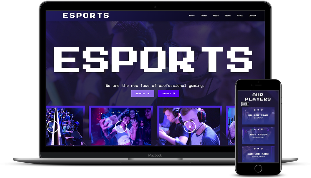 Esport demo website